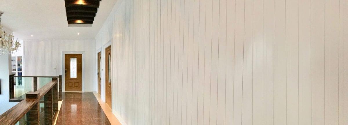 ผนังบ้าน WPC(ไม้ผสมพลาสติก) ไม้ระแนง,ไม้เทียม วอลเปเปอร์ติดผนัง