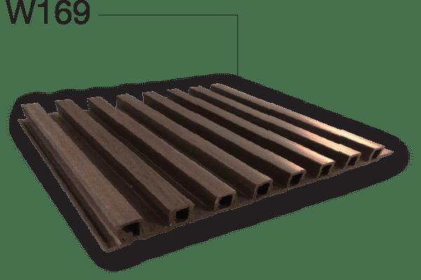 ผนังบ้านWpc(ไม้เทียม,ไม้สังเคระห์,ไม้ระแนง) รุ่น W169