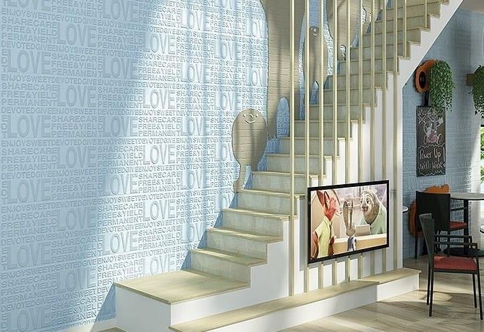 3D Foam wallโฟมสามมิติ รุ่น loveB