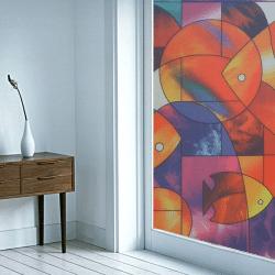 สติ๊กเกอร์ติดกระจก(StickerGlass) รุ่น E0008